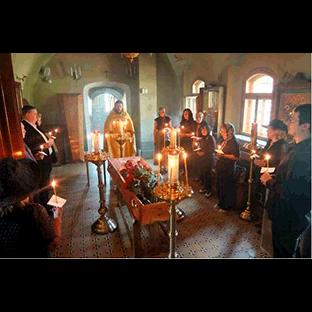 Отпевание умершего